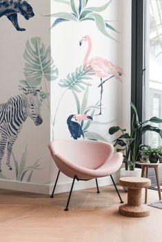 Modern Home Decor Ideas Jungle Wallpaper, Home Wallpaper, Baby Room Design, Baby Room Decor, Room Inspiration, Interior Inspiration, Safari, Modern Contemporary Living Room, Decor Interior Design