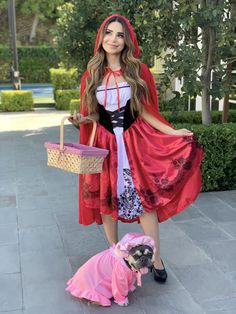 Rosanna Pansino as 'Little Red Riding Hood' and Blueberry Muffin as 'Grandma'