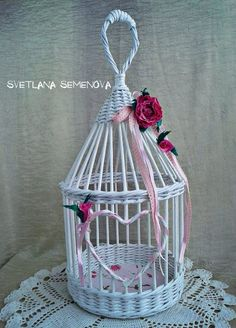 Birdcage of Rolled Paper