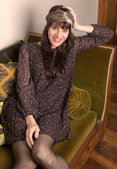 Robe plissée imprimé étoile Shirred Dress, Fashion Now, Winter Collection