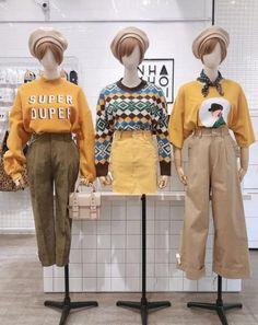 Ideas How To Wear Clothes Website Cute Fashion, Retro Fashion, Fashion Outfits, Womens Fashion, Fall Outfits, Casual Outfits, Cute Outfits, Korea Fashion, Asian Fashion