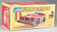 Ideal Evel Knievel Funny Car.