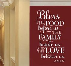bless food family decal