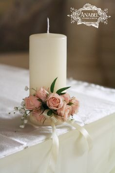 Try These Easy Decorating Tips When Working with Candles Wedding Unity Candles, Pillar Candles, Wedding Centerpieces, Wedding Table, Wedding Decorations, Wedding Set, Scented Candles, Christmas Crafts, Christmas Decorations