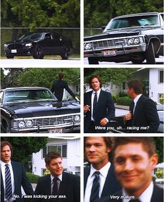 To me, this is one of those scenes where Sam and Dean disappear and are replaced by Jared and Jensen.