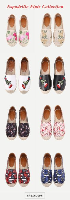 Floral Espadrille Flats Collection
