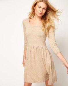 ASOS   ASOS Knitted Dress With Zip Back at ASOS