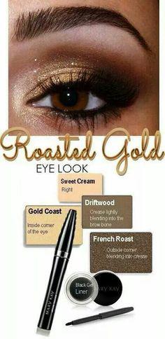 Roasted gold Eye look