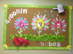 Blooming babies spring bulletin board
