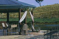 Sunshine Coast vineyard wedding ceremony at Oceanview Estate Private Winery (Photo by Cloud Catcher, Sunshine Coast Pop Up Wedding)