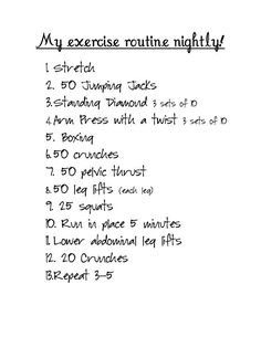 My new routine!
