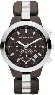 Michael Kors MK5611 Chronograph Showstopper Wood Women's Watch : Disclosure: Affiliate link $178.00