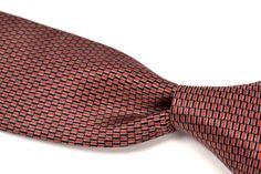 "STEFANO RICCI Red Blue Box Silk Satin Mens Tie Skinny - 3.375"" #StefanoRicci #NeckTie"