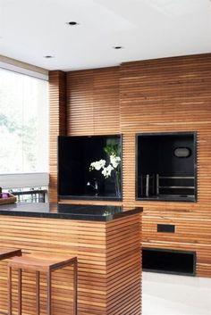 churrasqueira revestimento madeira