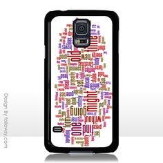 Colorfull Text iPhone 4 4S 5 5S 5C iPod Touch 4 5 Samsung Galaxy S5 S4 S3 Case Galaxy Note 3 Case