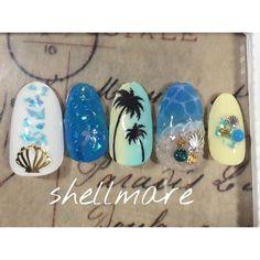 \ヤシの木ネイル/パームツリーネイル&パームツリーフットネイル50選 -page2   Jocee Sculpted Gel Nails, Beach Nails, Manicures, Summer Nails, Hair And Nails, Nail Colors, Nail Designs, Hair Beauty, Nail Art