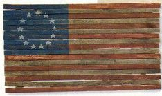 Large Americana 4' Lath Flag with Colonial 13 by GrammyandGrampys, $50.00