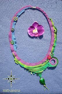 [Spring Necklace] Freeform crochet