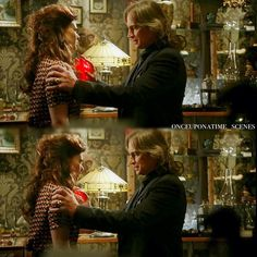 There's still hope for them. When I was watching this scene Belle just had that 'look'. The kind that said she wanted to take him back...#Rumbelle