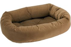 Oh so comfortable, the Bowsers Diamond Series Microvelvet Donut Dog Bed will have you wishing you had one of your own. This fine dog bed is upholstered. Dog Kennels For Sale, Large Dog Crate, Dog Beds For Small Dogs, Large Dogs, Cool Dog Houses, Dog Pin, Dog Items, Dog Carrier, Pet Beds