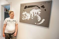 Sehr schöne Idee seine Ultraschallbilder zu ehren