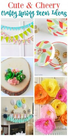 Cute & Cheery Crafty Spring Decor Ideas at the happy housie