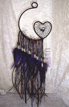 °LONE WOLF HEART Open Heart Dreamcatcher by FeatheredDreams1