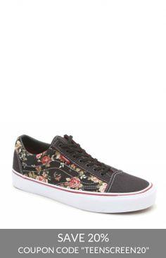 Vans Floral Authentic Lo Pro Sneakers