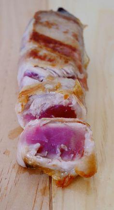 Filetti di tonno avvolti in pancetta