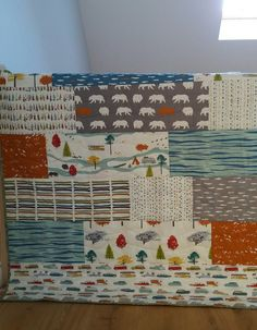 Birch Fabrics - Feather River - LOVE this fabric, gorgeous.  Quilt made for my nephew - Christmas 2015.