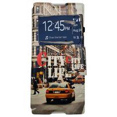 Funda Con Tapa Tipo Libro Para Sony XA1 Ultra Nueva York