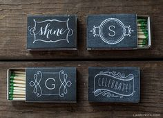 Wedding favors - Chalkboard wedding decor and details