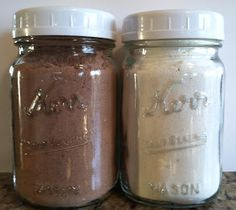 Sisters Playing House: Homemade Pantry (Day 30): Vanilla and Chocolate Pudding Mix