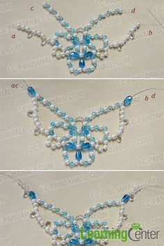 How to Make a Beaded Butterfly Charm Statement Necklace 6