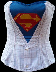 Supergirl corset I really kinda love this!