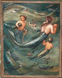 mermaids in the deep ~edward burne-jones 1882