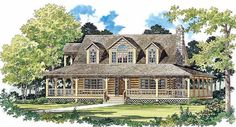 Farmhouse House Plan chp-19763 at COOLhouseplans.com