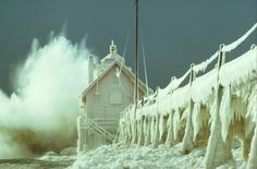 Grand Haven, MI in winter!