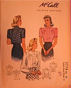 McCall 3774: Ladies' and misses' blouse