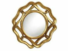 Accent Mirror with Twisted Gold Finished Frame