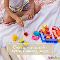Brincar e desenvolver a criatividade é a essência dos cantinhos ou convites para brincar, baseados em Reggio Emília