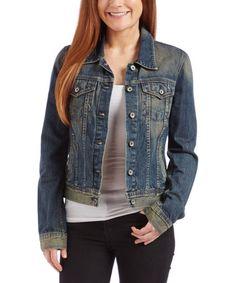 Look at this #zulilyfind! Rustic Blue Copen Denim Jacket #zulilyfinds