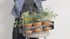 Hanging Chains or Custom Aircraft Cables (shown) can be used to hang Plant Inspiration's In and Out Window Box. These planters will also wall mount with a french cleat hanging system - the side bar is used on the wall mount french cleat.