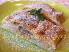 Štrůdl z lístkového těsta French Toast, Breakfast, Menu, Recipes, Food, Morning Coffee, Menu Board Design, Recipies, Essen
