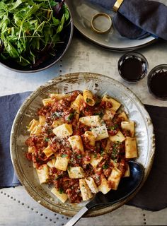 Weeknight dinners don't always allow for long slow cooking, so this ragu relies on the bacon and soy sauce to give a rich flavour with a shorter cooking time.