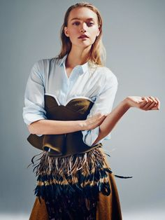 The Front Row View: Gemma Ward Poses for Sunday Style October 2014