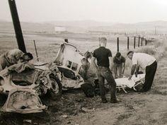 James Dean's Cursed Car . . .  http://www.snopes.com/autos/cursed/spyder.asp
