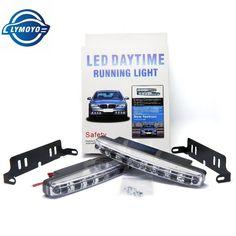 Spectacular PCS pair Universal Car Light Super White LED DRL Daytime Running Light Source Auto