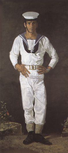 """Sailor in the sun Paris"", by Yannis Tsarouchis. Oil on cloth, x 104 cm Illustrations, Illustration Art, Paul Cadmus, Kai, Alberto Giacometti, Greek Art, Art Database, Drawing Practice, Male Figure"