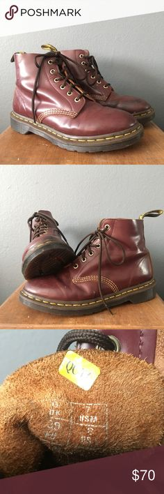 9926b4b8e5 Doc Marten Boots 101 Vintage Smooth Doc Marten Boots Dr. Martens Shoes  Combat & Moto